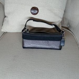 Coach small bag black metallic